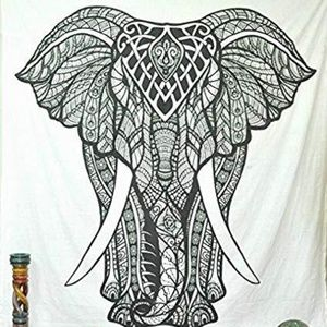 GIANT Color Me Elephant Tapestry!